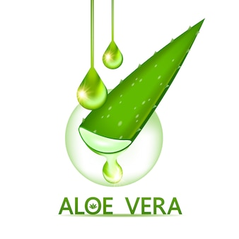 Collagène et sérum d'aloe vera pour les soins de la peau.