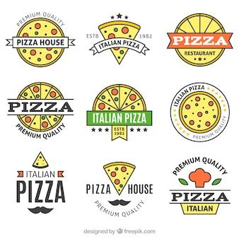 Collecte complète de logo de pizza