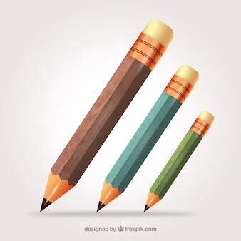 Collecte de crayons en bois