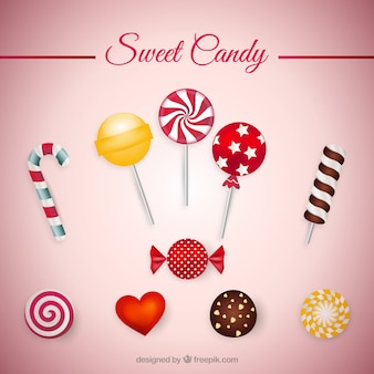 Collecte de bonbon sucré