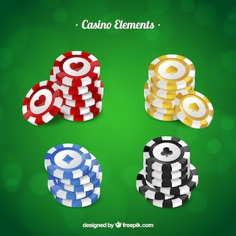 Collecte de jetons de casino