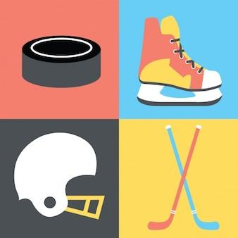 La collecte des éléments de hockey