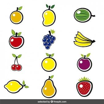 La collecte des fruits colorés
