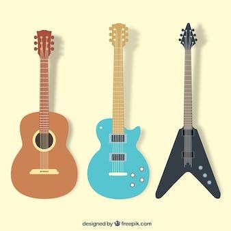 La collecte des guitars
