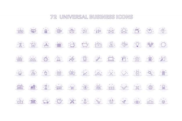 Collecte d'icônes d'affaires universelles
