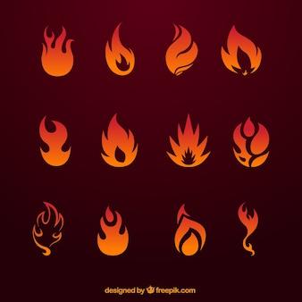 La collecte des icônes d'incendie