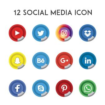 Collecte d'icônes de médias sociaux