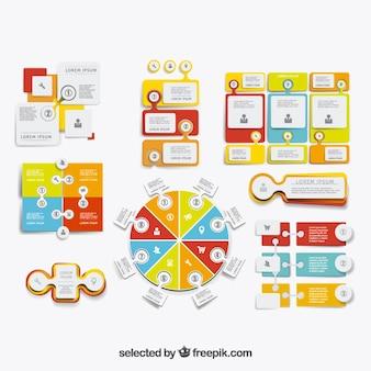 La collecte des infographies colorées