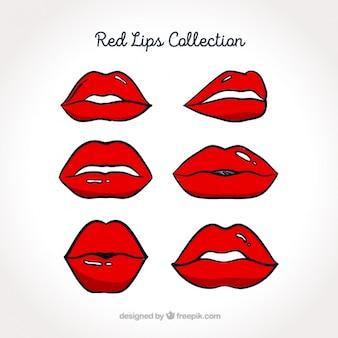 La collecte des lèvres rouges