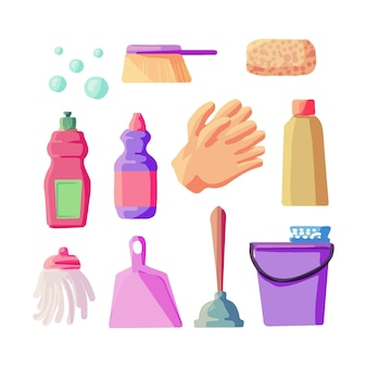 Collecte de matériel de nettoyage