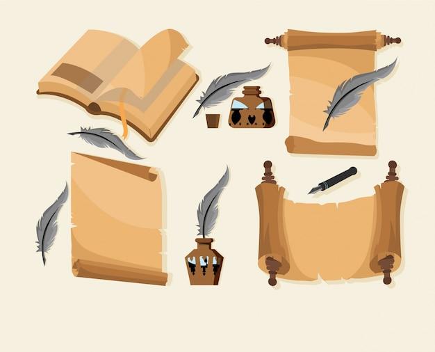 Collecte d'outils d'écriture vintage