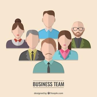 La collecte de papier équipe d'affaires