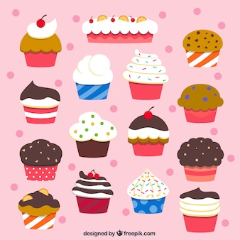 La collecte des petits gâteaux délicieux