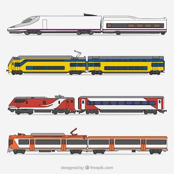 Collecte de train moderne