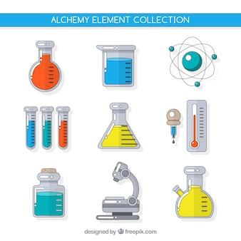 Collection d'accessoires d'alchimie