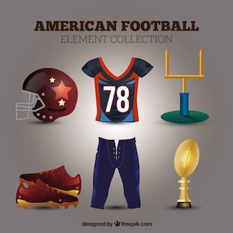 Collection d'accessoires de football