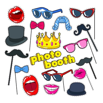 Collection d'accessoires photo booth
