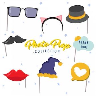 Collection d'accessoires de photomaton créatifs