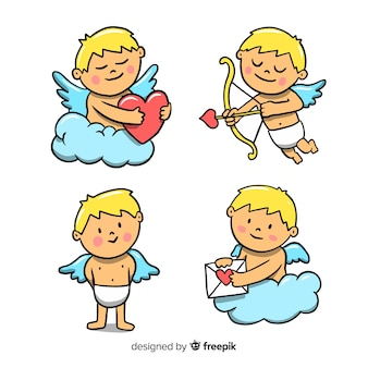 Collection d'activités d'anges de la saint-valentin