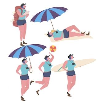 Collection d'activités à la plage
