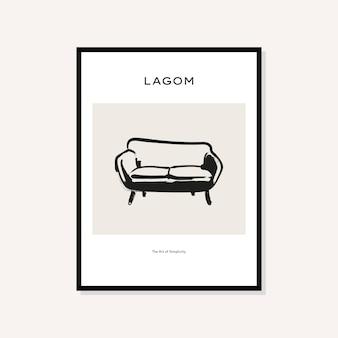 Collection d'affiches d'affiches d'art abstrait de style bohème