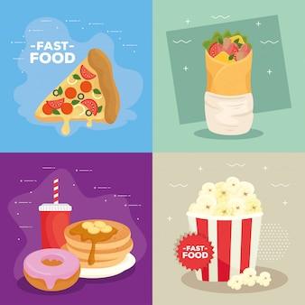 Collection d'affiches de délicieux rapide
