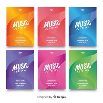 Collection d'affiches du festival de musique