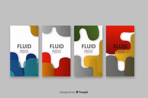 Collection d'affiches fluides