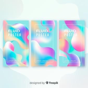 Collection d'affiches fluides