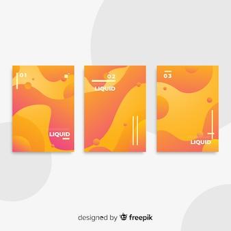 Collection d'affiches de formes fluides