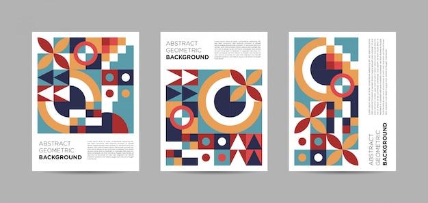 Collection d'affiches géométriques abstraites