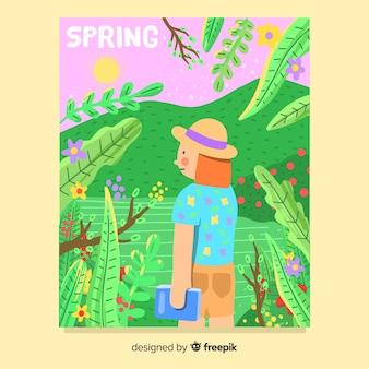 Collection d'affiches saisonnières dessinées à la main