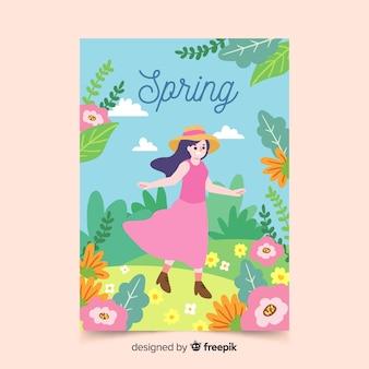 Collection d'affiches saisonnières de style dessiné à la main