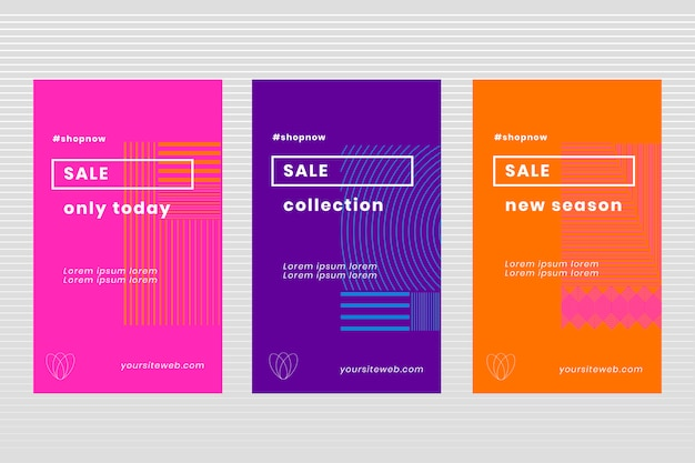 Collection d'affiches de vente minimaliste