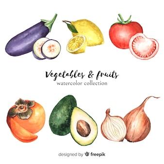 Collection d'aliments biologiques dessinée à la main