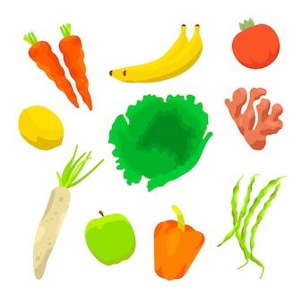 Collection d'aliments sains
