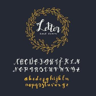 Collection d'alphabet doré