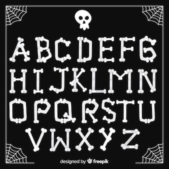 Collection d'alphabet d'halloween