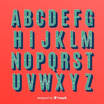 Collection d'alphabet de noël vintage