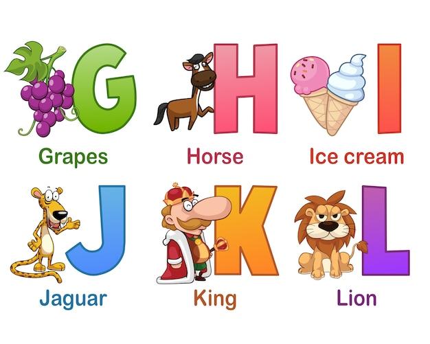Collection d'alphabet