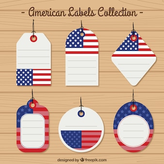 Collection américaine drapeau label