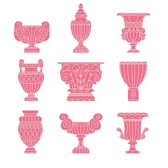 Collection d'amphores grecques anciennes
