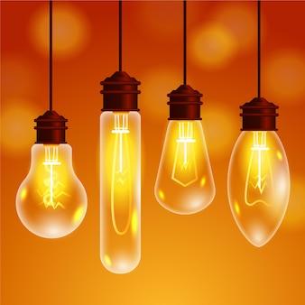 Collection d'ampoules électriques