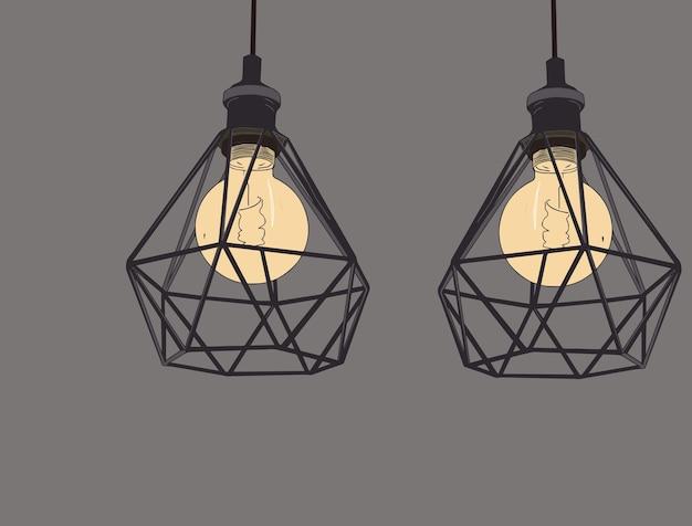 Collection d'ampoules et de lampes vintage