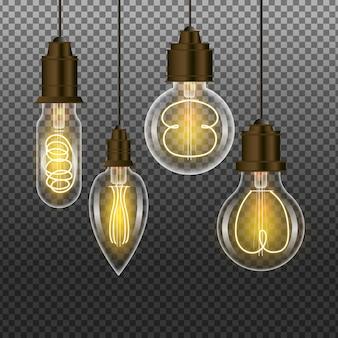 Collection d'ampoules réalistes
