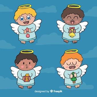 Collection d'anges mignon de bande dessinée