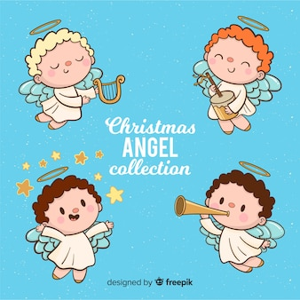 Collection d'anges de noël