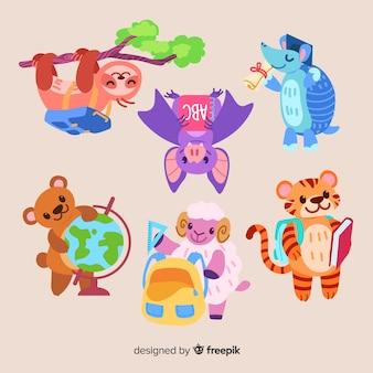 Collection animale pour événement scolaire