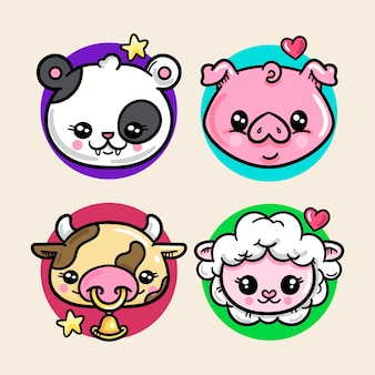 Collection d'animaux / animaux de compagnie kawaii