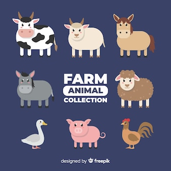 Collection d'animaux de ferme